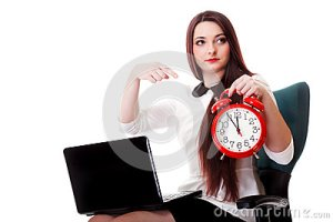 woman-red-clock-time-management-concept-young-business-white-background-deadline-30513851