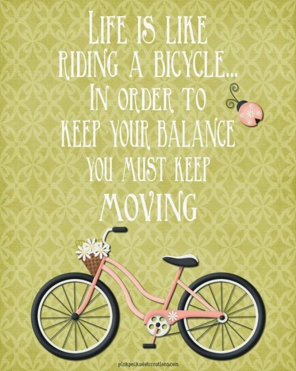 viata ca mersul pe bicileta