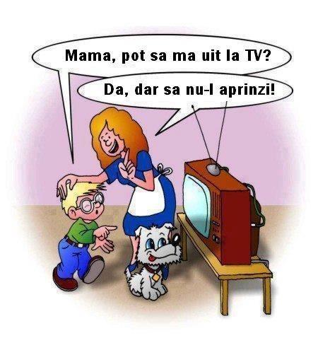 Mama pot sa ma uit la tv