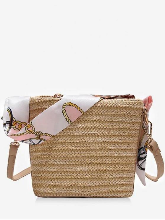 geanta de paie cu aer estival