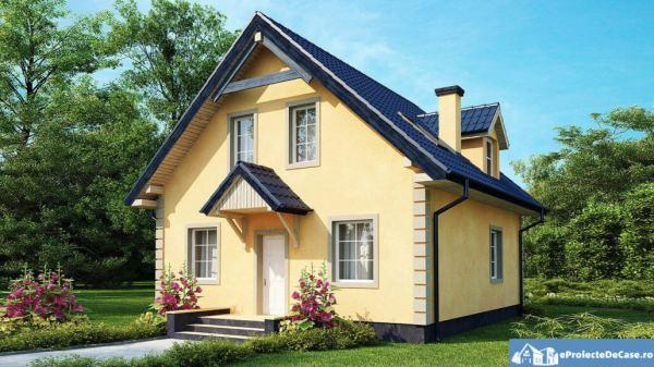 proiecte de case cu mansarda